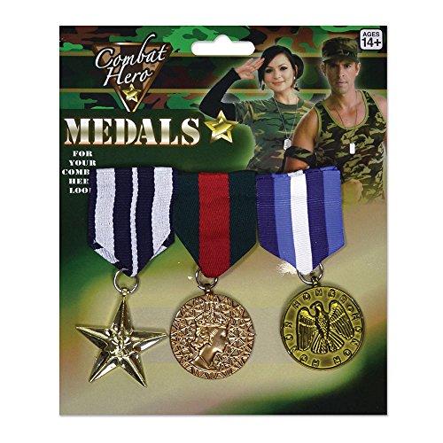 Forum Novelties-BA584 Bristol Novelty BA584 Médailles Militaires de Déguisement, Adulte Unisexe, Multicolore