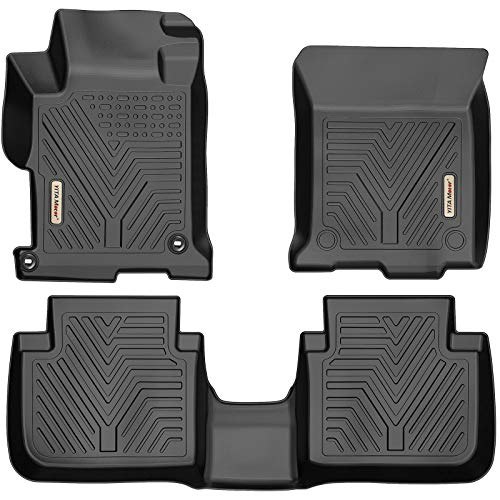 YITAMOTOR Floor Mats Compatible with Honda Accord, Custom fit Floor Liners for 2013-2017 Honda Accord Sedans, 1st & 2nd Row All Weather Protection