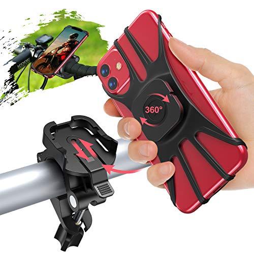 Cocoda Handyhalterung Fahrrad, Abnehmbare Motorrad Handyhalterung für 4,7-7,5 Zoll Handys, 360° Verstellbare Anti-Shake Handyhalter Fahrrad Kompatibel mit iPhone 12 Pro Max/12 Pro/12 Mini/11 Pro Max