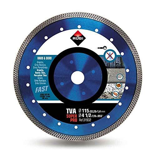 Rubi TVA SUPERPRO 125 x 22,2 x 1,4 mm Diamant Trennscheibe für harte Materialien
