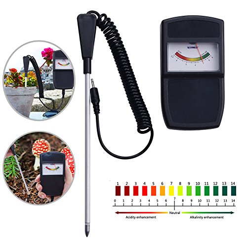 Review YIYIYI PH Tester,Soil PH Measuring Instrument Tester Meter for Farm Plants Crops Flowers Vege...