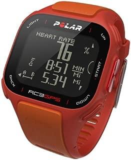 POLAR RC3 Heart Rate Monitor, Red/Orange Various Patterns