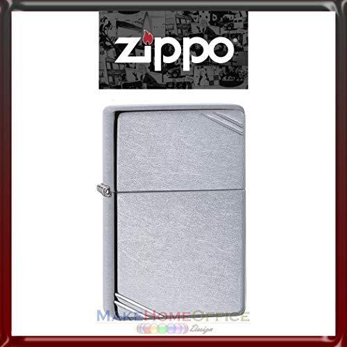 Accendino'Zippo' Mod. 267 Vintage Street Chrome Benzina Ricaricabile Antivento'Modello Classic'