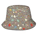 Bucket Hat Packable Reversible Escandinavo Multi Color Color Guijarros Imprimir Sombrero para el Sol Sombrero de Pescador Gorra Acampar al Aire Libre