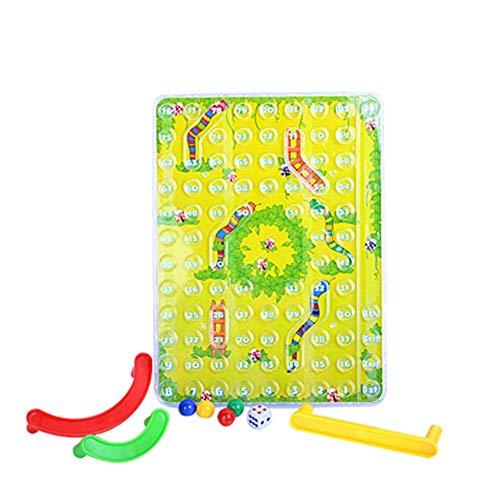 N/V Mini Desktop Game Snake Toy Trapezoidal Intelligence Game Snake And Ladder 3D Toy Parent-Child Interaction