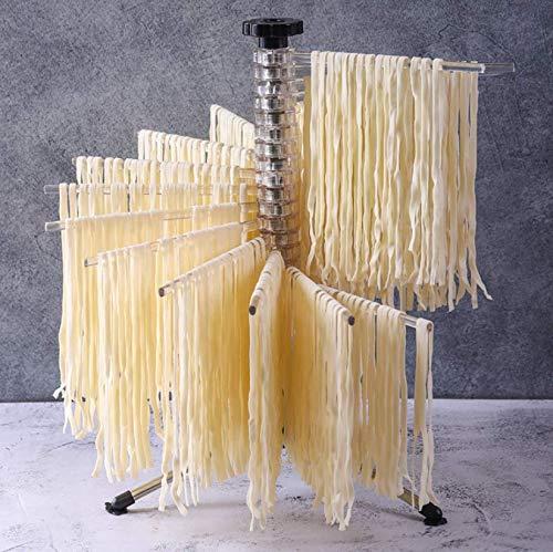 Küchenständer Spaghetti Manuelles Aufhängen Leicht zu reinigen Faltbarer Nudeltrockner Rotationszubehör Nudelhalter Home Tools Einfache Aufbewahrung