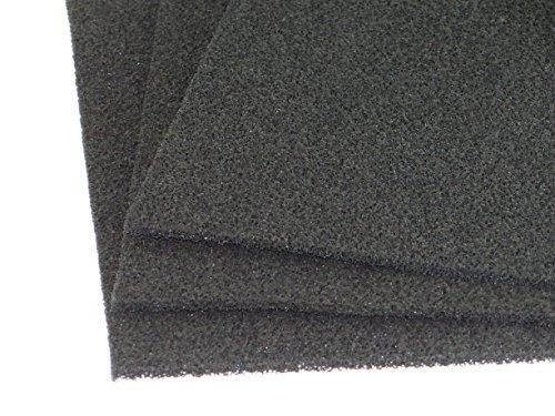 Aktivkohle Schaumstoff Filter Luftanwendungen Abluft 1mx1mx 5mm PPI 30 mittel-fein Filtermatte Filterschaumstoff Universal Kohlefilter Aktivkohle für viele Anwendungen