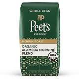 Peet's Coffee Organic Alameda Morning Blend, Medium Roast Whole Bean Coffee, 32 oz