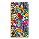 dakanna Funda para Huawei Y5 II - Y6 II Compact | Graffiti de Colores Ciudad New York | Carcasa de Gel Silicona Flexible Transparente