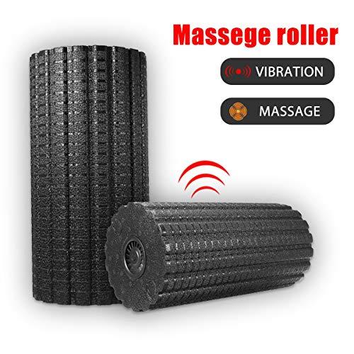 Slimerence Massagerolle mit Tiefenvibration, Massage Foam Roller, Vibrating Schaumstoffrollen Roller für Taillenbein Knie Gesäß Fuß Exercise Sport Training