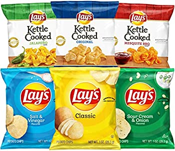 40-Count Lay's and Lay's Kettle Cooked Potato Chips Variety Pack