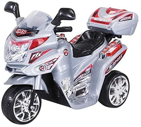 Actionbikes Motors - Moto elettrica per bambini C051, per i più piccoli da 3 - 5 anni (Argento)