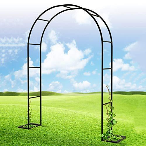 HRXQ Arceau à Rosiers Arche De Jardin en Métal Arceau Rosier Support pour Plantes Grimpantes - Couleur:Noir,8 Tailles
