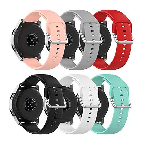 Ruentech Cinturino di ricambio compatibile con Umidigi Uwatch 2S 3S per smartwatch Umidigi Urun Cinturino di ricambio in silicone per orologio sportivo (misura S, 6 colori)