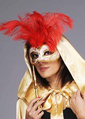 Rouge plume Baroque mascarade masque pour les yeux