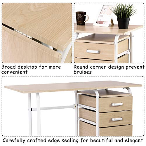A convertible desk can help you work from home in a small space