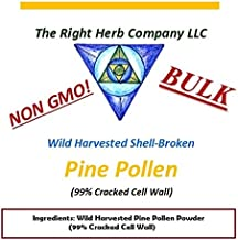 WILD HARVESTED PINE POLLEN POWDER * GMO FREE * 99% CRACKED CELL WALL * BULK (1 kilogram (2.2lbs))