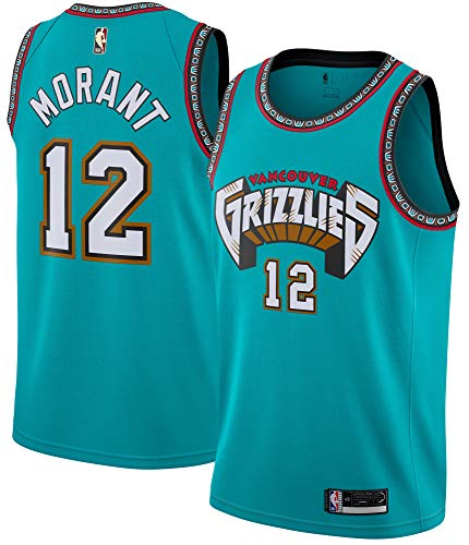 Ja Morant Memphis Grizzlies #12 Official Youth 8-20 Teal Hardwood Classic Edition Swingman Jersey (8)