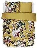 ESSENZA Bettwäsche Fleur Blumen Pfingstrosen Tulpen Baumwollsatin Gelb, 135x200 + 1 X 80x80 cm