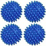 KongJies - 4 palline per asciugatrice: il bucato uscirà morbido, soffice, con meno pieghe e meno statico, colore: blu