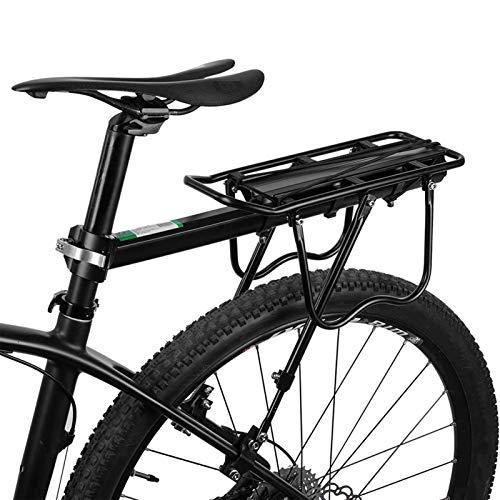 ROCKBROS MTB Gepäckträger Schnellspanner Fahrradgepäckträger aus Aluminiumlegierung Max. Zuladung 50 KG universal 24 bis 29