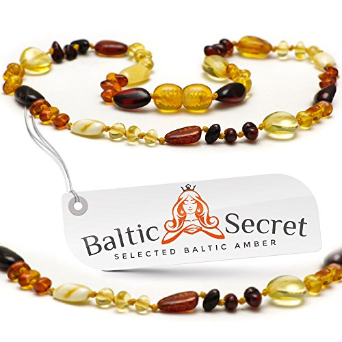 Amber Teething Necklace 10.8 inch MLT.P-Mix