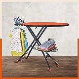 Bathla X-Pres Ace Pro - Extra Large Foldable Ironing Board with Aluminised Ironing Surface (Orange & Black)