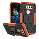 MRSTER LG V30 Case, Tyre Pattern Design Heavy Duty Tough