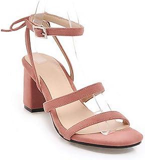 BalaMasa Womens ASL06519 Pu Block Heels