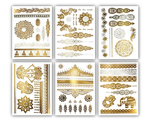 Temporary Henna Metallic Tattoos