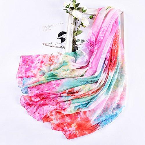 YRXDD Silk Schal Damen Wilden Schal Langen Sonnenschutz Schal großen Strand Handtuch (140 * 200cm),Licht Streamer Glühwürmchen