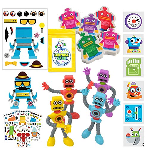 Robot Birthday Party Favors for Kids Pack