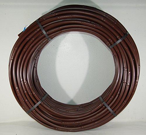 Siplast - Tubo perforado de 16 mm para riego por goteo - Autocompensante de 100 metros con conector para grifo - Color marrón