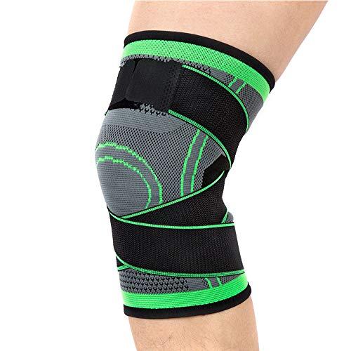 Lazzon Tutore per ginocchio Regolabile Ginocchiera Legamenti Crociati Menisco Compressione Antiscivolo Fascia Rotulea Supporto per Sport, Joint, Running