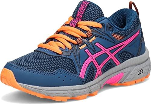ASICS Kid's Gel-Venture 8 GS Running Shoes, 3, MAKO Blue/Pink GLO
