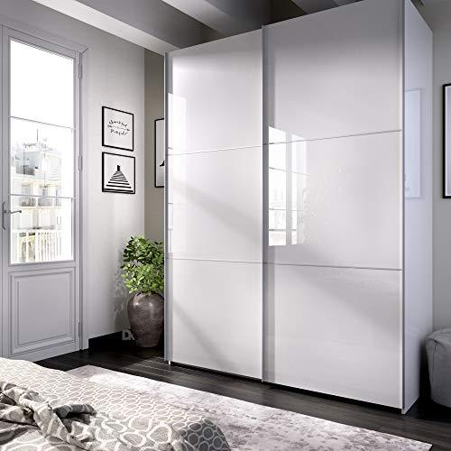 HOMEKIT Armario 2 Puertas correderas, Blanco Brillo, 150x204x65cm