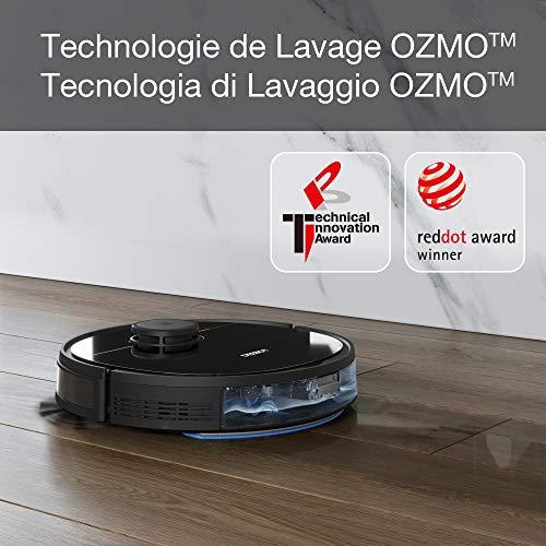 ECOVACS OZMO920 Robot Aspirateur Laveur, 2-en-1 avec Technologie Laser Smart Navi 3.0, Nettoyage Personnalisé, Cartographie multi-étages, Barrières Virtuelles, sur les Tapis, Moquettes et Sols Durs