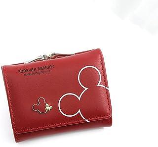 GUMAOPAJIAAAqb Monederos de Mujer, Women Wallets Leather Female Purse Mini Hasp Solid Multi-Cards Holder Fashion Coin Shor...