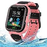 LUKYBIRDS Kids Smart Watch, IP67 Waterproof Smartwatch Boys Girls with HD Touch Screen SOS Recorder Alarm Clock-Kids GPS tracker watch Birthday Gift for 3-12 Years Old