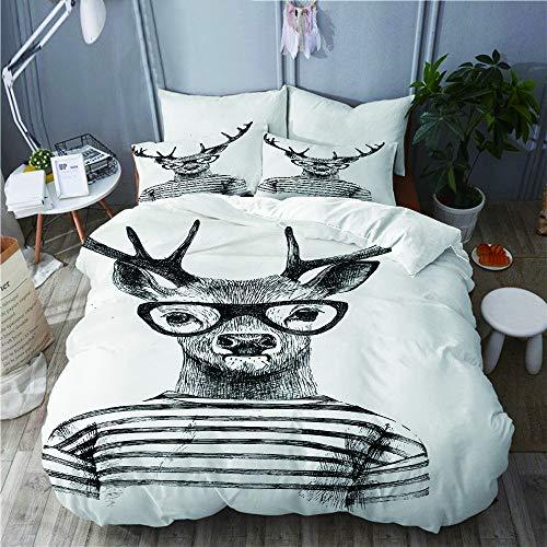 Winter Hirsch Einzel Bettwäsche mit Kissenbezüge Tiere Schlafzimmer Neu