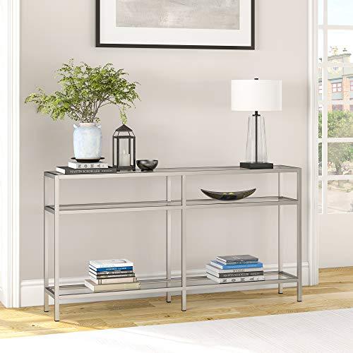 "Henn&Hart Modern console table, 55"", Silver"