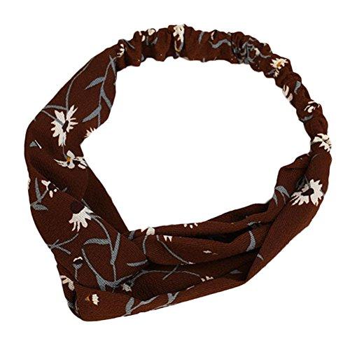 Drawihi Bande Cheveux Bandeau de Sport Pour Femme Tissu Accessoires de Cheveux Rouge 1 Pcs