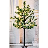Twinkle Star Lighted Pine Tree Artificial Christmas Tree 6 Feet 120 LED for Christmas Home Wedding Festival Party Decoration