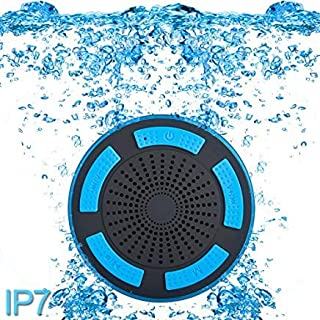 cjc Premium Quality Shower Speaker, IP67 Waterproof Portable Wireless Bluetooth 4.0 Speakers with Super Bass HD Sound and ...