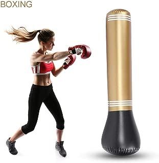 Heerda Saco de Boxeo Inflable de Fitness Saco de Boxeo de Boxeo PVC 160cm Entrenamiento de pie Juego de Fitness Adultos Desestreso Boxeo Target Bag Saco de Suelo