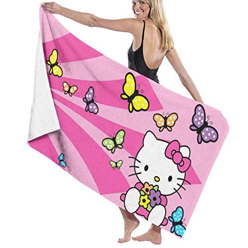 Hello Kitty - Toalla de baño de secado rápido para hombres y mujeres, diseño de Hello Kitty