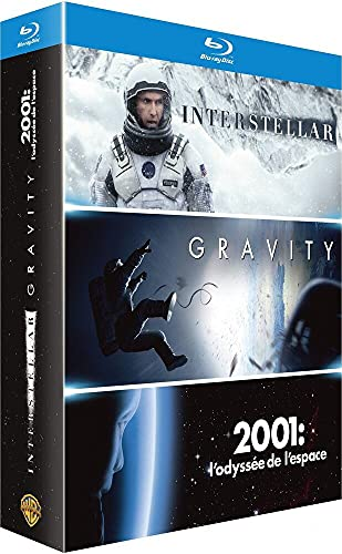 Coffret espace 3 films : gravity ; 2001 l'odyssée de l'espace ; interstellar [Blu-ray] [FR Import]
