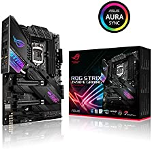 ASUS ROG Strix Z490-E Gaming Z490 (WiFi 6) LGA 1200 (Intel 10th Gen) ATX Gaming Motherboard (14+2 Power Stages, DDR4 4600, Intel 2.5 Gb Ethernet, Bluetooth v5.1, Dual M.2 and Aura Sync)