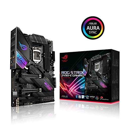 ASUS ROG Strix Z490-E Gaming Z490 (WiFi 6) LGA 1200 (Intel 10th Gen) ATX Gaming Motherboard (14+2 Power Stages, DDR4 4600, Intel 2.5 Gb Ethernet,...