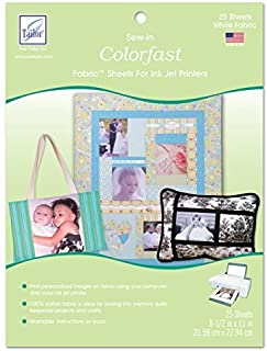 June Tailor Sew-In Colorfast Fabric Sheets for Inkjet Printers by June Tailor Inc